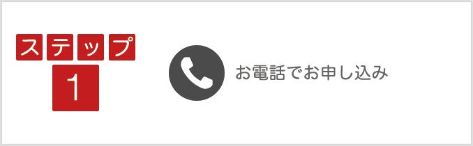 ステップ1:電話でお申し込み